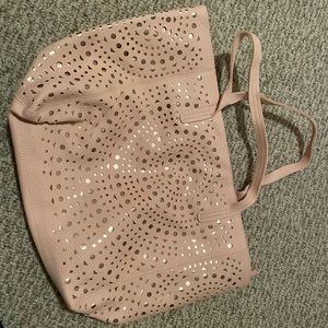 NWT Bath and body works pink shimmer bag purse